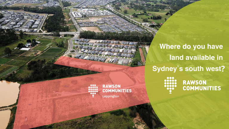 Where do you have land available in Sydney's south west?